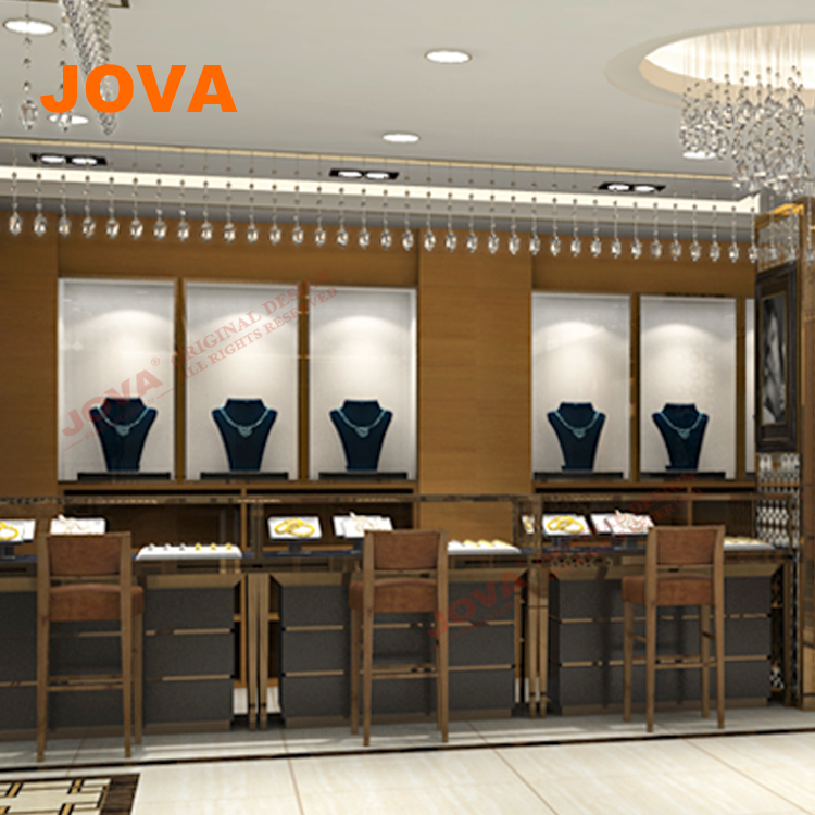 Best Showroom Indian Stores Gold Jewellery Shop Interior Design In