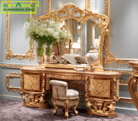 OE-FASHION European luxury wooden make up dressing table with mirror