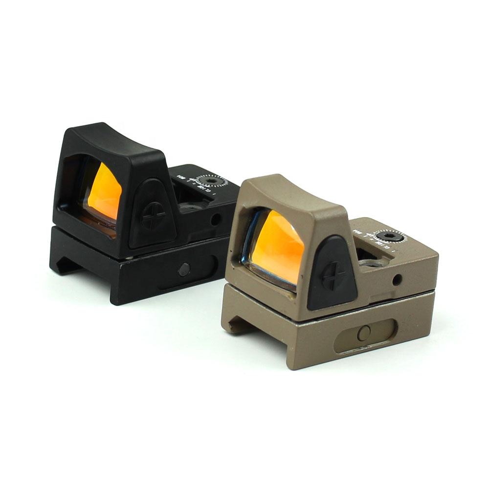 Gun accessories long eye relief rifle scope 2moa reflex sight light weight red dot sight, Black