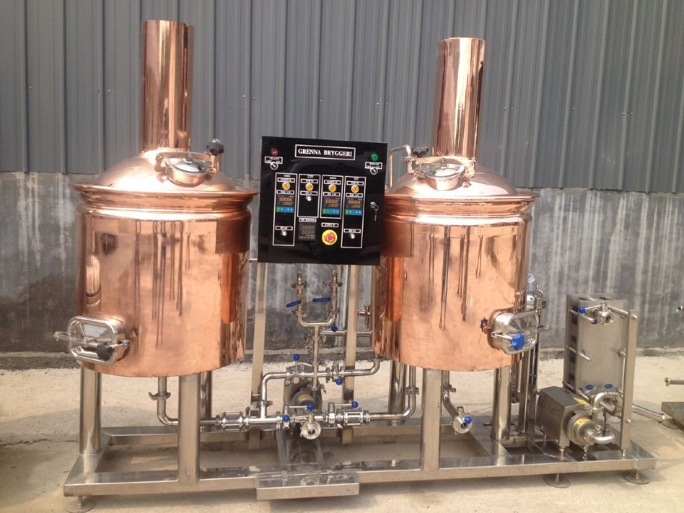 Brew Pub Hotel Mini Red Copper Tank Used Brewery Equipment