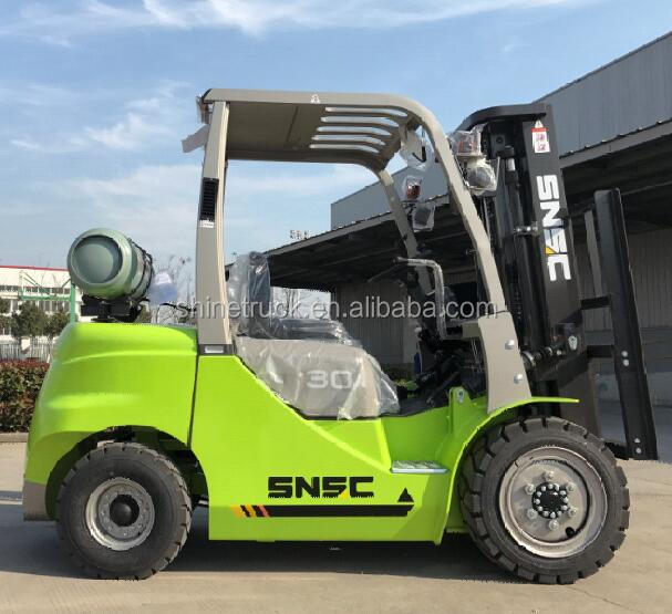 Quality LP Gas forklift 3ton FL30 with 3-stage mast 4m height price