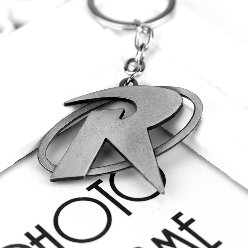 Batman Robin R Mark Logo Keychain Logam Gantungan Kunci Pendant