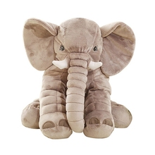 Groothandel Zachte Baby <span class=keywords><strong>Speelgoed</strong></span> Cool Gevulde Grijs Olifant Knuffel