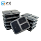 pp 3 compartment take away plastic food container
