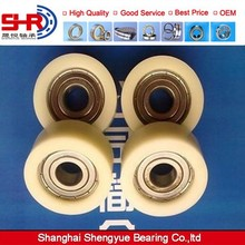 Low price plastic wheel with bearing