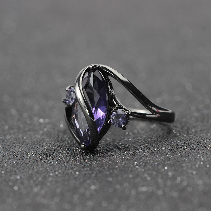 free sample amazon AliExpress hot selling high quality wholesale black gold ring fashion style Jewelry for women