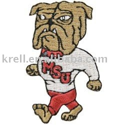 Beautiful Dog KSU Embroidery Sticker Iron On Souvenir Patches
