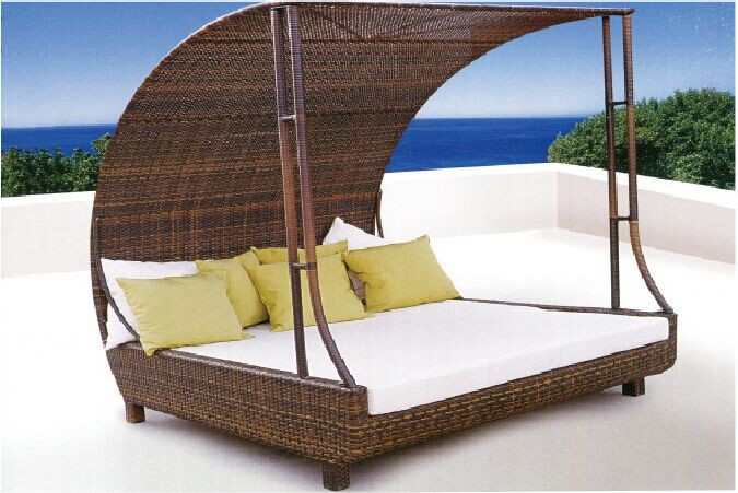 Rattan Outdoor Pool Sofa Bed With Canopy Buy Pool BedSofa Bed
