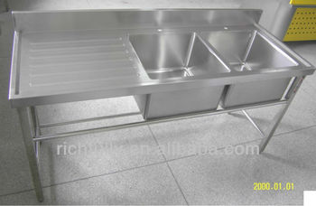 2015 hot sale stainless steel countertops kitchen kitchen countertop cheap with 2 wash basin. Black Bedroom Furniture Sets. Home Design Ideas