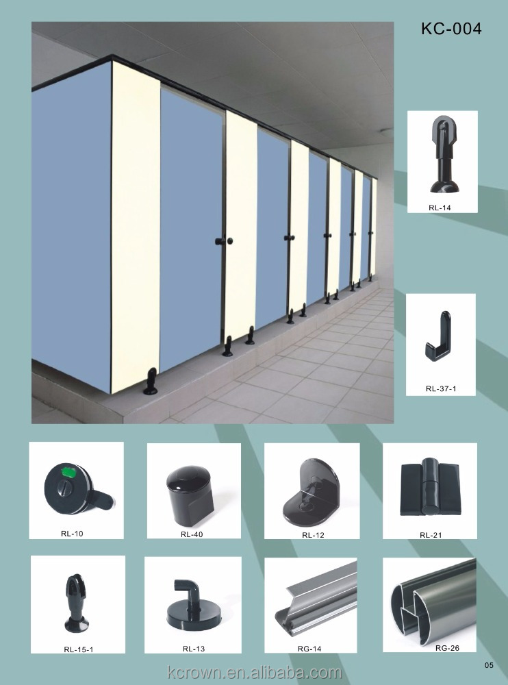 First Rank Toilet Cubicle Nylon Shower Cubicle Partition Accessories/HPL Toilet Cubicle Partition