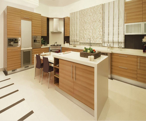 Bomei Manufacturer Modular Acrylic Wood Veneer Pantry Cupboard/Kitchen Cabinets