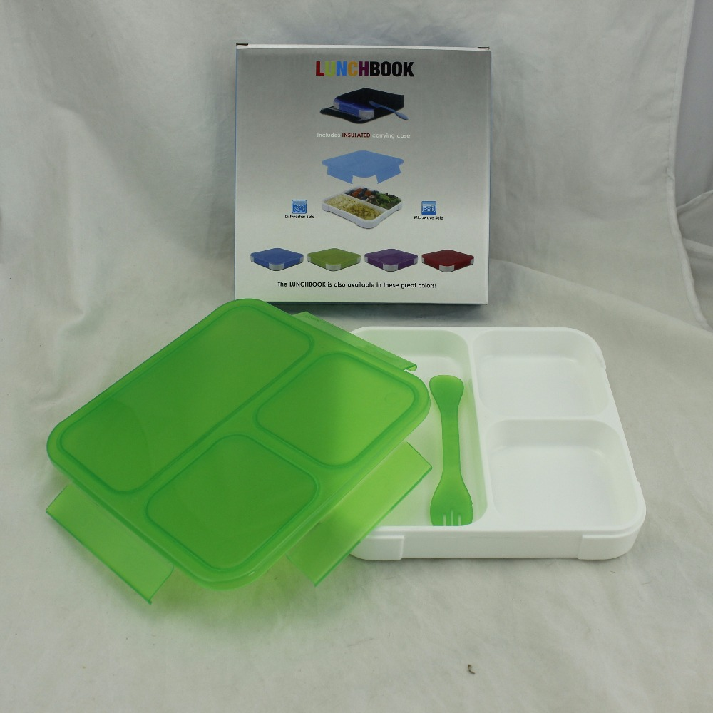 eco-friendly plastic lunch box, food packaging customized logo,BSCI picnic gift