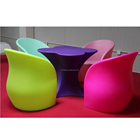 Indoor outdoor modern commercial furniture garden table and chairs eco friendly colorful plastic patio furniture