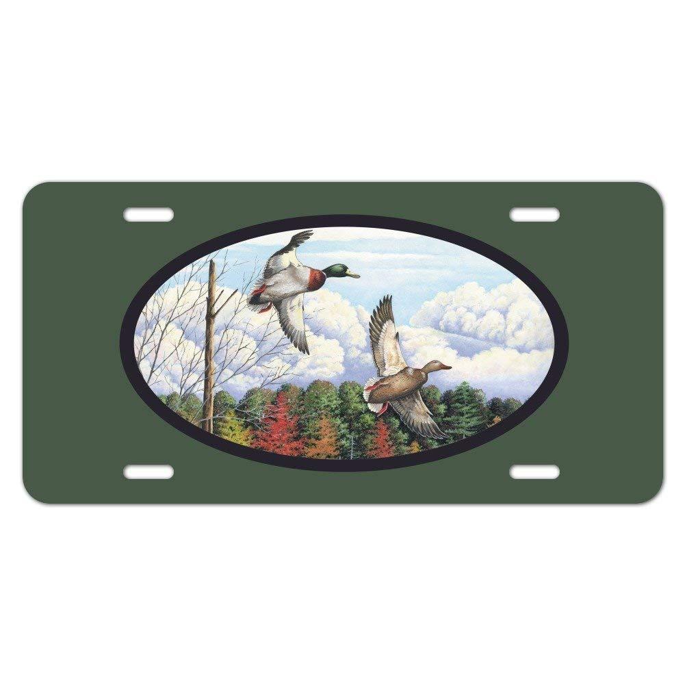 Mallard Ducks Flying Hunting Novelty Metal Vanity Tag License Plate