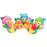 Wholesale Custom Novelty Baby Rubber Bath Toys mermaid Kawaii Animals Plastic Children's bath rubber toy