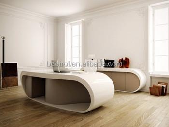Design Bureau Hoogglans Wit.Hoogglans Wit Bureau Groot Hoogglans Wit Bureau Met Rvs Onderstel