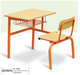 Top Quality desk for stuents School classroom Furniture High single chairs with desk for sale