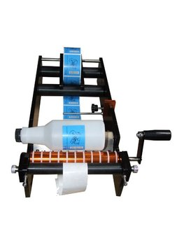 (Free shipping) Economic Simple Manual Handy Round Bottle Labeling Machine, Manual labeler
