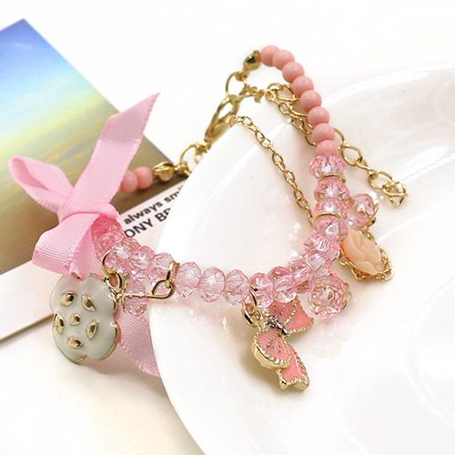 2014 новинка хрустальная роза бантом камелия сладкий жемчужный браслет симпатичные элегантный оптовая продажа 1FLI