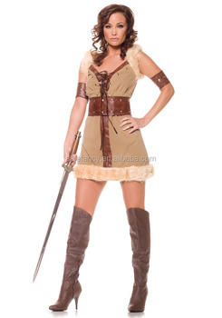 Female viking costume fantasy party costume sexy halloween costume idea women QAWC-0444  sc 1 st  Alibaba & Female Viking Costume Fantasy Party Costume Sexy Halloween Costume ...