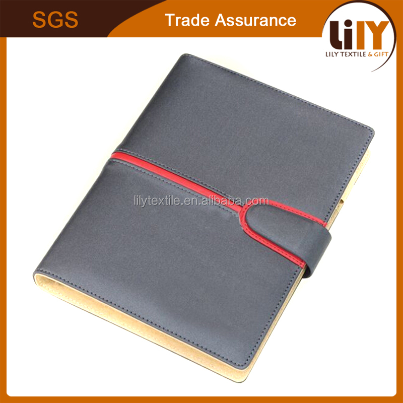 Free Sample Professional Printing Hardcover PU Leather Agenda Notebook For Office