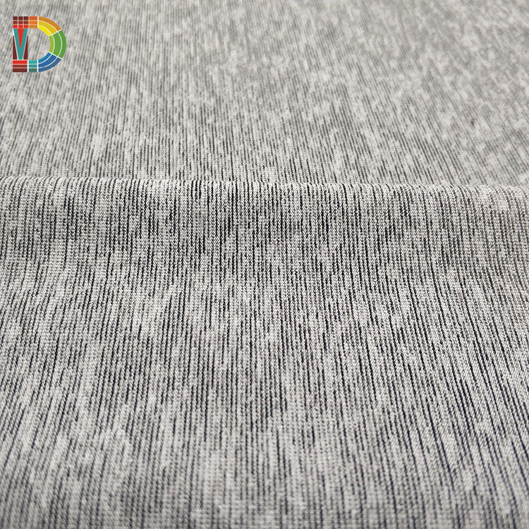 Knitted germanium Viscose cation spandex fabric dry fit single jersey functional fabrics