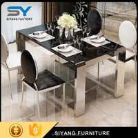 Rectangular glass kitchen dining room table for sale CT009