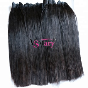 Ms Mary Natural Black Straight Human Hair Extension Double Weft Fumi Hair Top Quality Remy Virgin Peruvian Hair