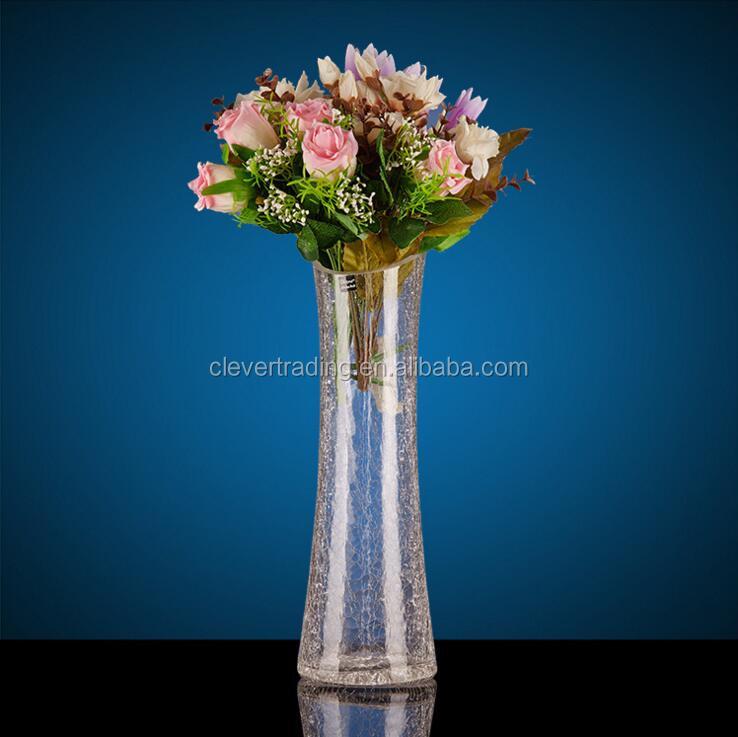 Wholesale Flower Shape Tall Slim Glass Vase Buy Flower Shape Glass Vase Slim Glass Vase Tall Glass Vase Product On Alibaba Com