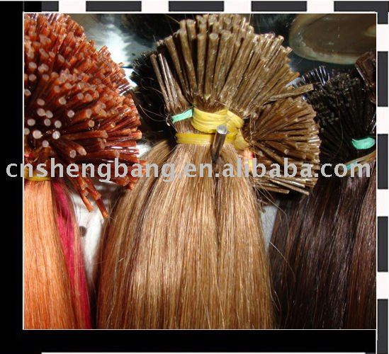 Pre-bonded fusion virgin hair,indian remy hair extension,natural wave