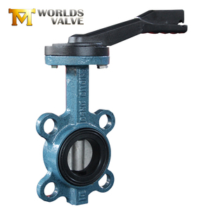Tianjin High performance dn 80 100 150 handles wafer type butterfly valve rubber