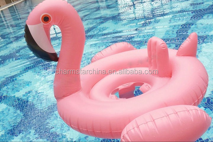Factory Supply Pink Color Water Pool Float Inflatable Flamingo for Children
