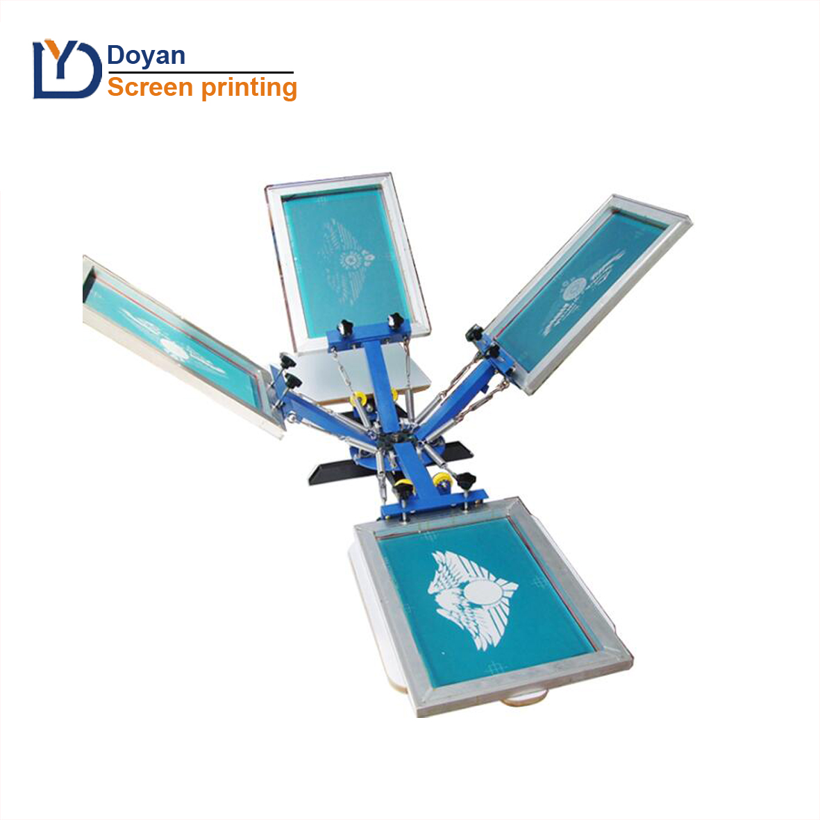 High Quality One-top shop China 4 color 2 station screen printing machine