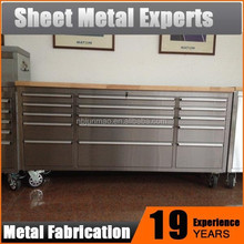 2016 Hot Sellling Stainless Steel Tool Chest Metal Garage Tool Cabinet
