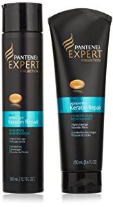 Pantene Pro-V Expert Collection - Advanced + Keratin Repair - Shampoo & Conditioner Set - Net Wt. 10.1 FL OZ (Shampoo) & 8.4 FL OZ (Conditioner) - One Set by Pantene