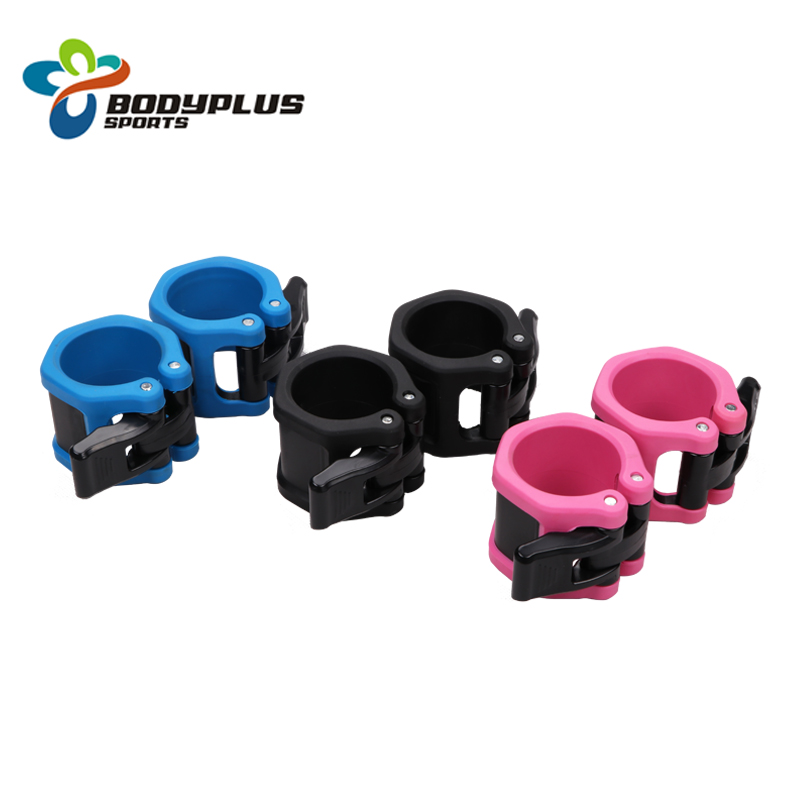 High quality Weightlifting Non slip 2 inch Quick Lock Release Barbell Collars фото