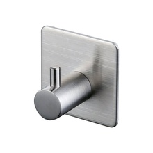 China Fornecedor 3 m Auto <span class=keywords><strong>Adesivo</strong></span> Removível Brushed Nickel Wall Mounted <span class=keywords><strong>Gancho</strong></span> Do <span class=keywords><strong>Gancho</strong></span> de <span class=keywords><strong>Metal</strong></span>