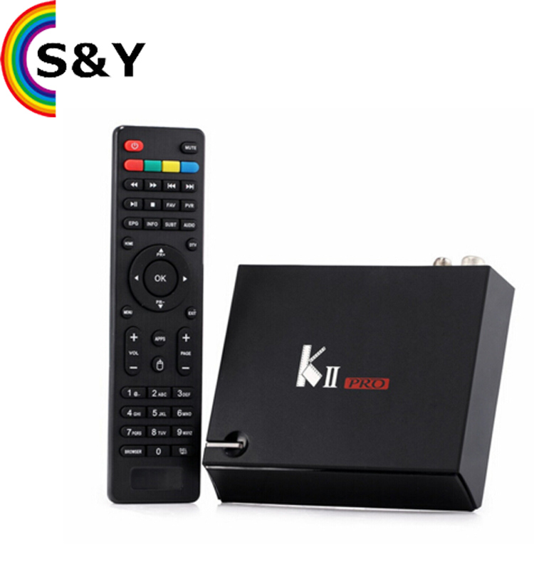 KII K2 PRO DVB T2 combo DVB S2 Set top Box BISS KEY POWERVU k2 pro smart android tv box satellite receiver