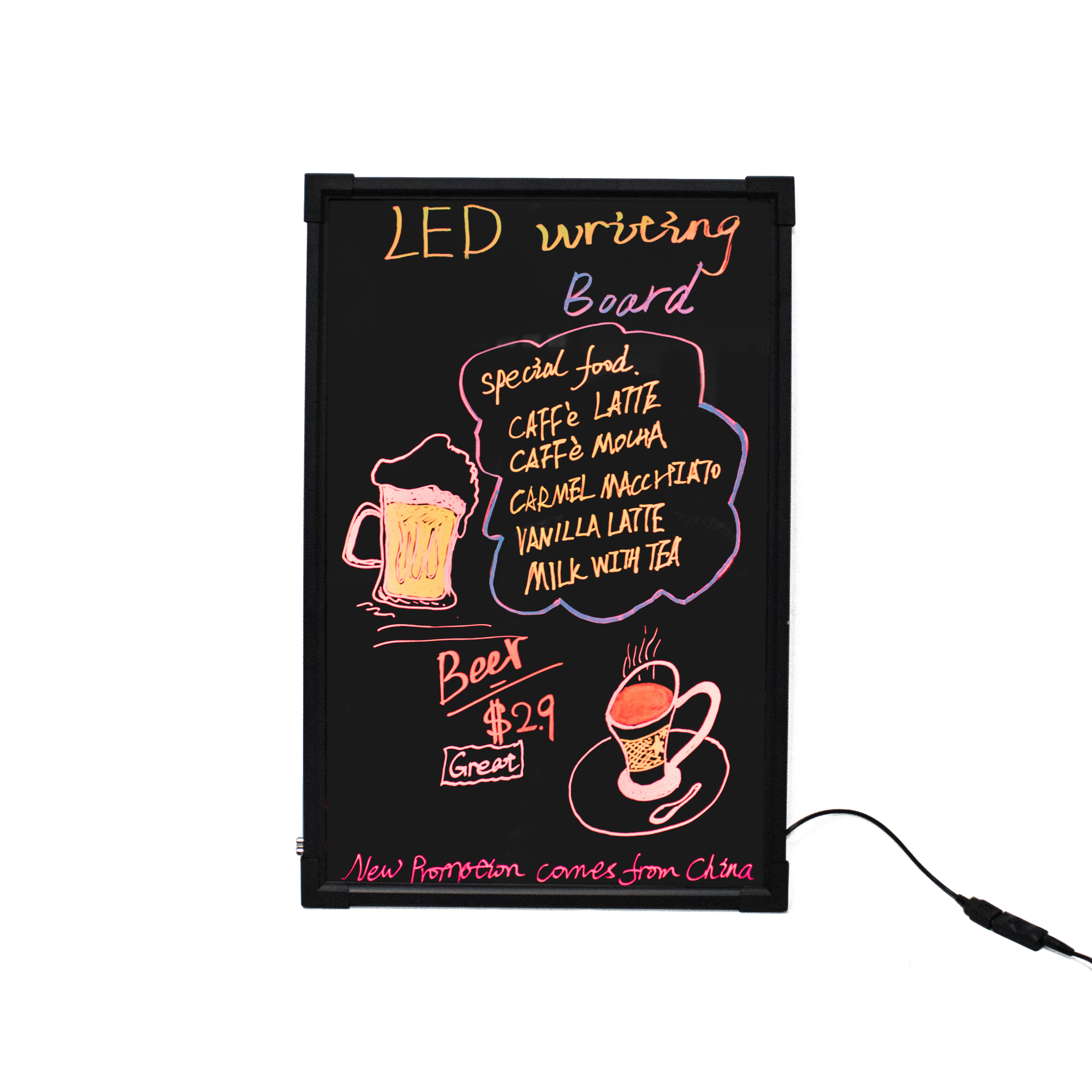 Merry Christmas Writing.Merry Christmas Led Writing Board Led Outdoor Advertising Board For Shop Cafe Restaurant Store Buy Merry Christmas Led Writing Board Led Writing