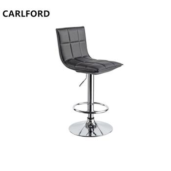 Black Barstool Swivel Bar Chair With Foot Rest,Pu Bar Chair Chrome  Barstool,Kitchen Bar Stools - Buy Bar Stool Chair,Stool Chair,Bar Chair  Product on ...