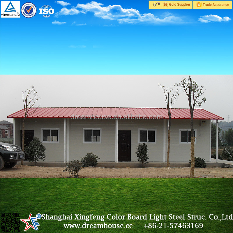 China Supplier Africa/Asia/South America Light Steel Prefab House/2016 the latest design low cost the prefab house