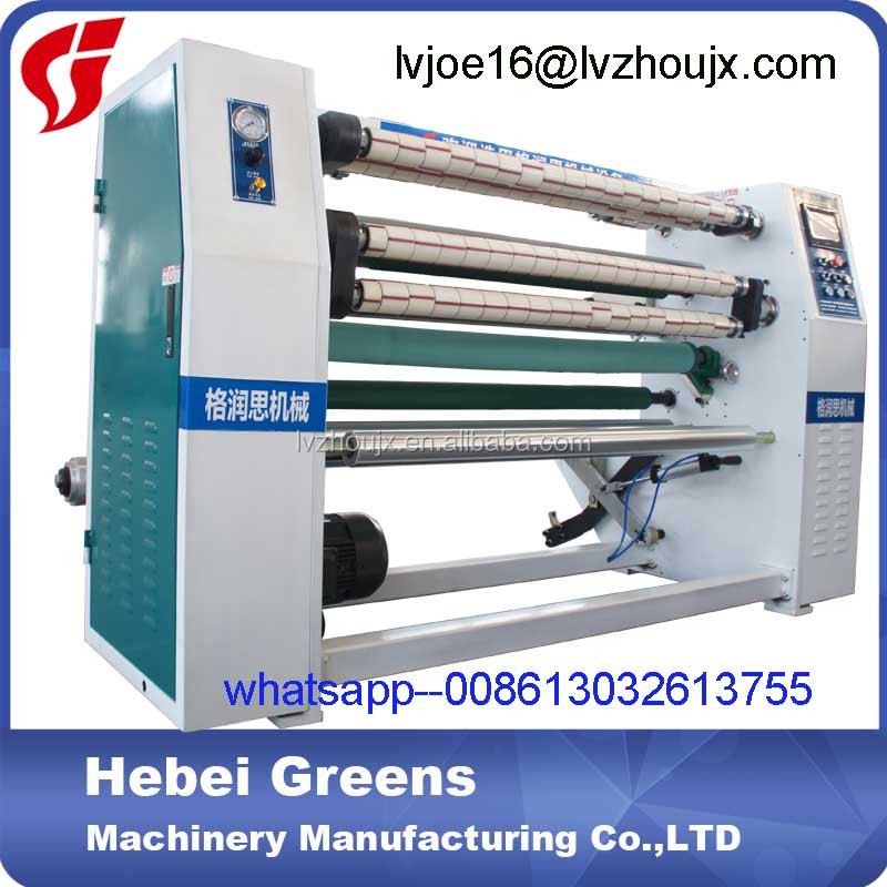 LV-202 Adhesive log roll tape slitting cutting machine, adhesive tape slitter