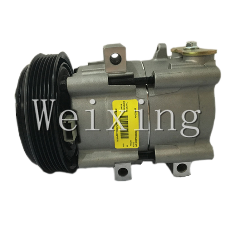 FS10 Auto air conditioning compressor for Ford Fiesta Ka Couriser 4S4119D629AA 6S4319D629AA 1356724 4767921 second hand