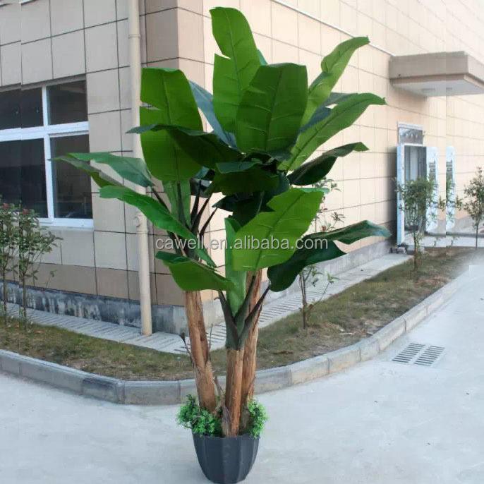 D coratif en plastique artificielle banane arbre arbres for Arbres en plastique artificiels