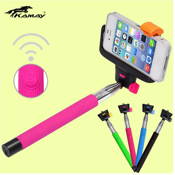Bluetooth shutter remote with two clips for smartphone mobile phone wireless monopod for ipod nano 6