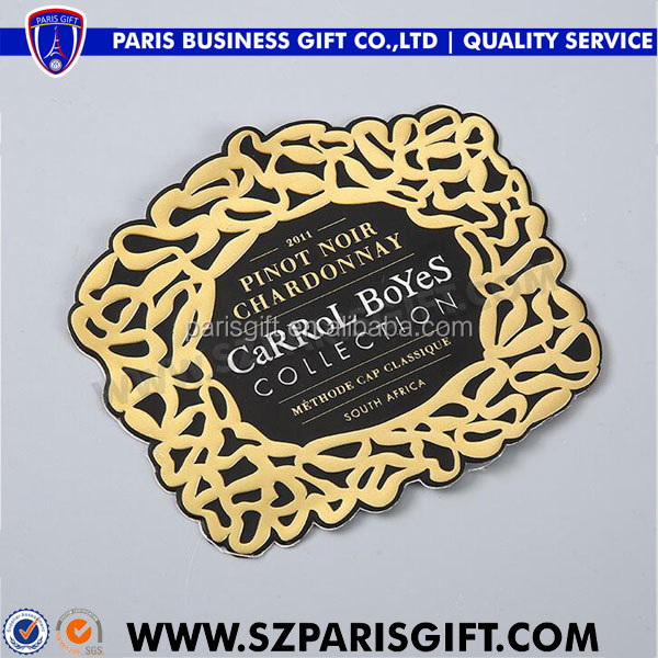 OEM promotional cheap metal logo badge for chardonnay