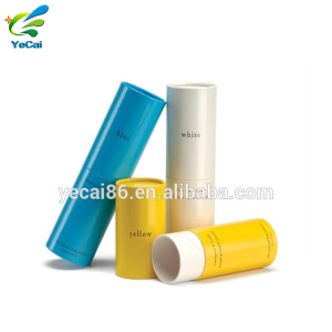 Round shape cardboard paper canister for matte liquid lipstick private