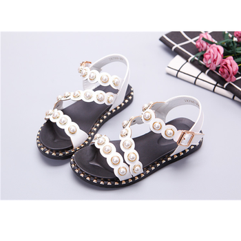 36f19b53e82e8 Summer Kids Baby Girl Open Toe Bowknot Sandals Soft Leather Strap Princess  Shoes