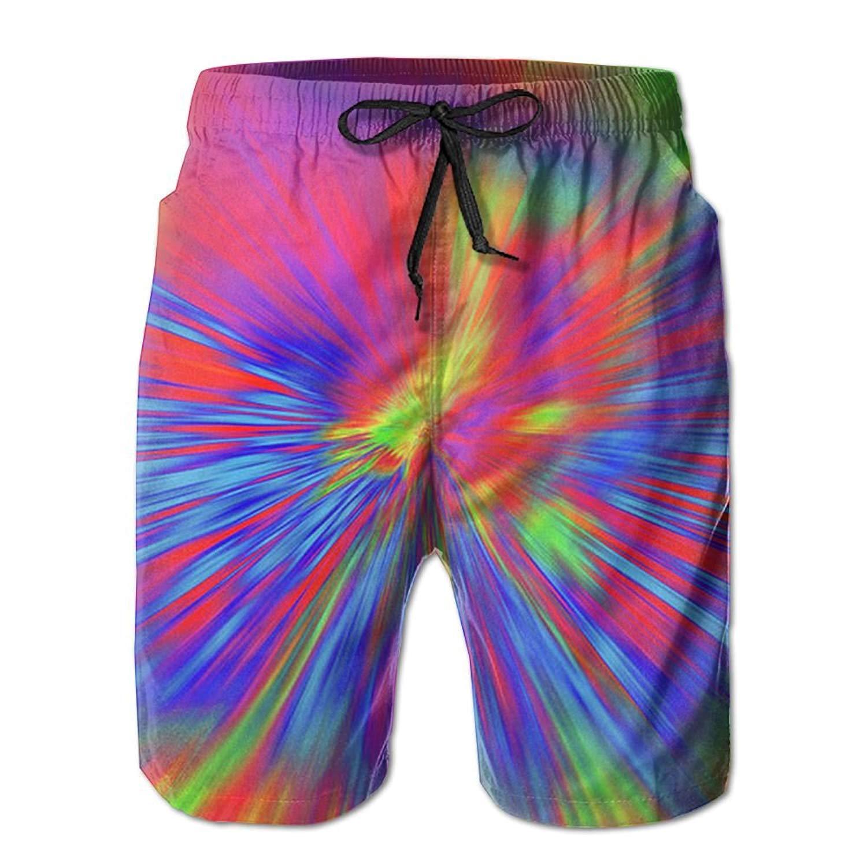 252a10ac05 Get Quotations · KIOT156 Tie Dye Pattern Mens Summer Breathable Swim Trunks  Beach Shorts Cargo Shorts