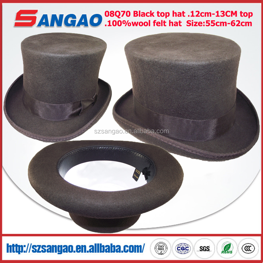 4919ecc31b7 Wholesale Round Wool Felt Top Hat - Buy Top Hat